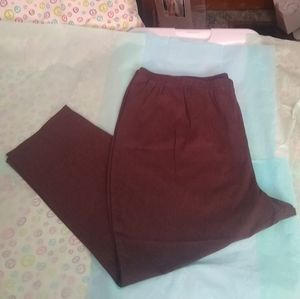 NWOT Brown Everyday Fit by Catherines Pants - 5X